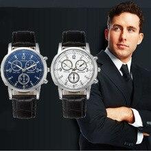 luxury Business clock men Leisure Sports Belt Watch Men Three Eye Waterproof Small Dial Women Ladies Watches mens watches