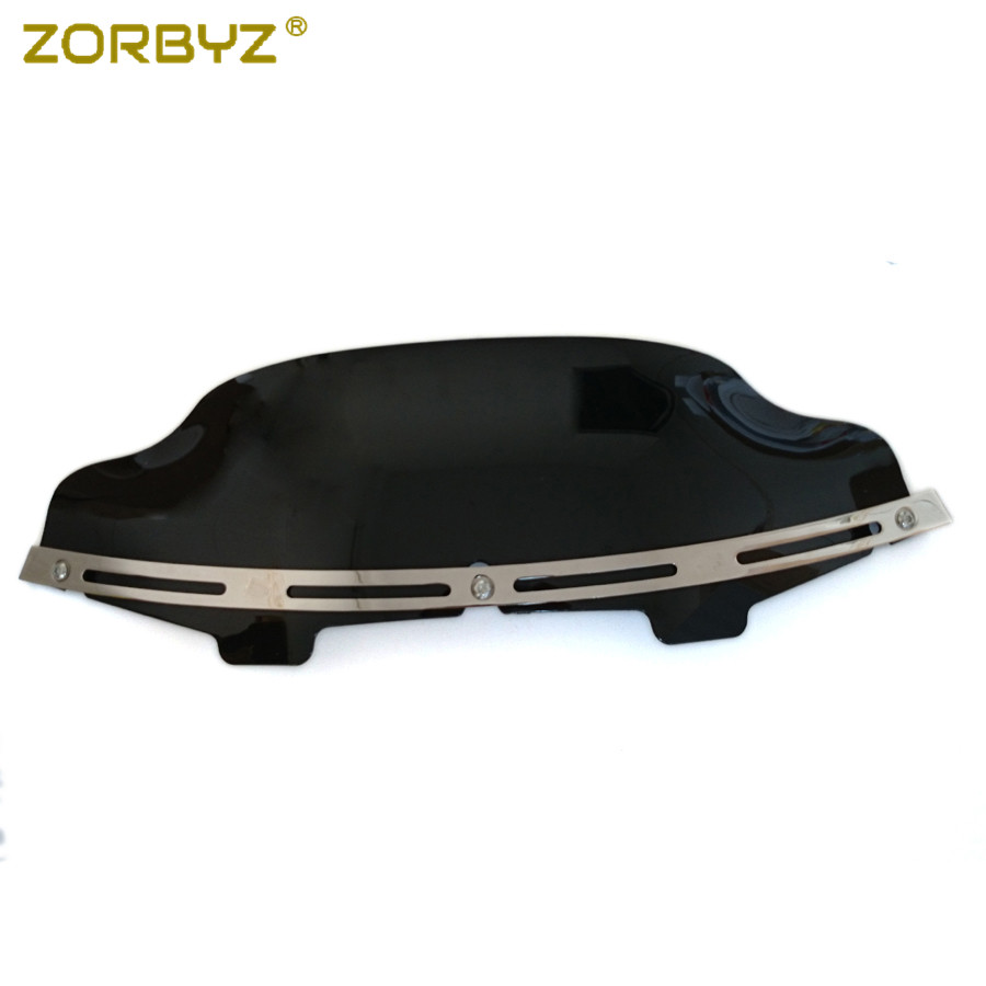 ZORBYZ Slotted Stock Batwing Trim 6 Black Windshield Fairing Windscreen For Harley Touring Electra Glide 1996