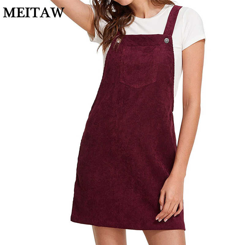 Herfst Winter Vrouwen Pocket Retro Corduroy Jurk 2019 Sexy Mouwloze Vintage Party Dress Casual Solid Slim Jarretel Zonnejurk