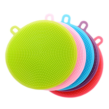 Multifunction Silicone Dish Bowl Cleaning Brush Squeegee Scouring Pad Silicone Dish Sponge Kitchen Pot Cleaner Washing Tool 2pcs multifunction silicone dish bowl cleaning brush dish sponge kitchen washing tool