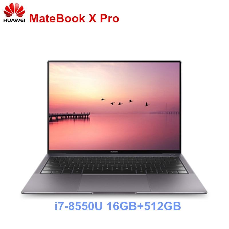 HUAWEI MateBook X Pro Notebook 13.9 ''Intel Core i7-8850U Del Computer Portatile 16 GB di RAM 512 GB SSD PC NVIDIA Geforce MX150 Touch Screen