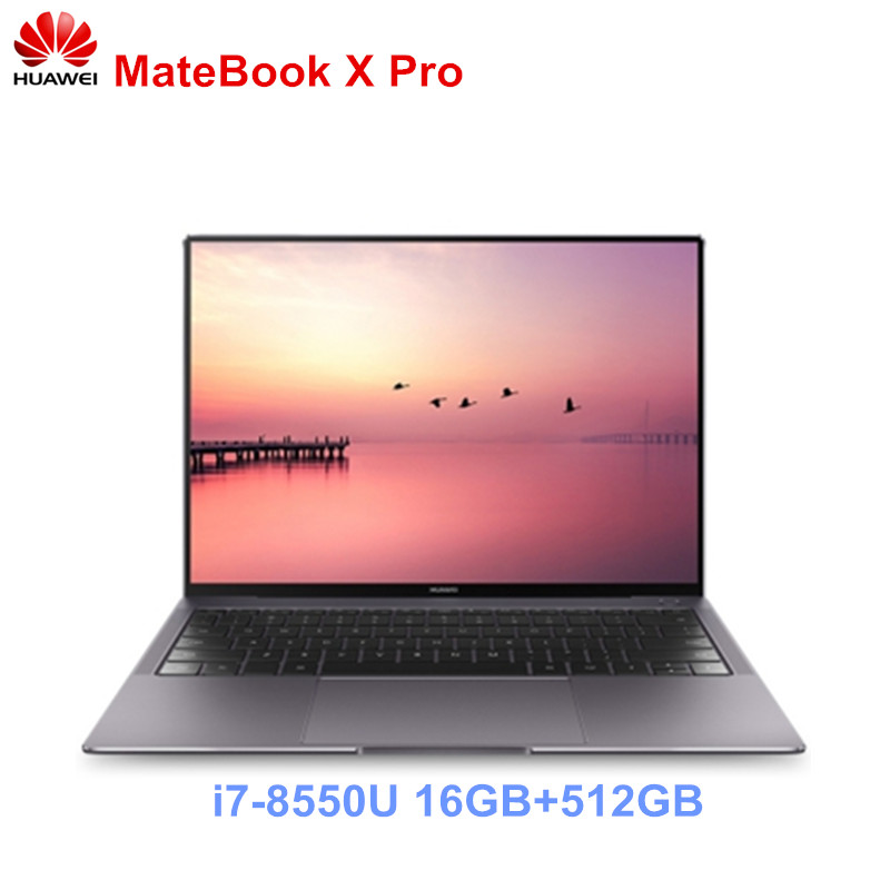 HUAWEI MateBook X Pro Notebook 13.9'' Intel Core I7-8550U Laptop 16GB RAM 512GB SSD PC NVIDIA Geforce MX150 Touch Screen