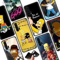 Cartoon Homer J. simpson Cassa Del Telefono Del Silicone per Huawei Honor 20 Pro 20 10 Lite 8X 8C 8A 8 S V20 20i Gioco godere di 9 S 9E Copertura