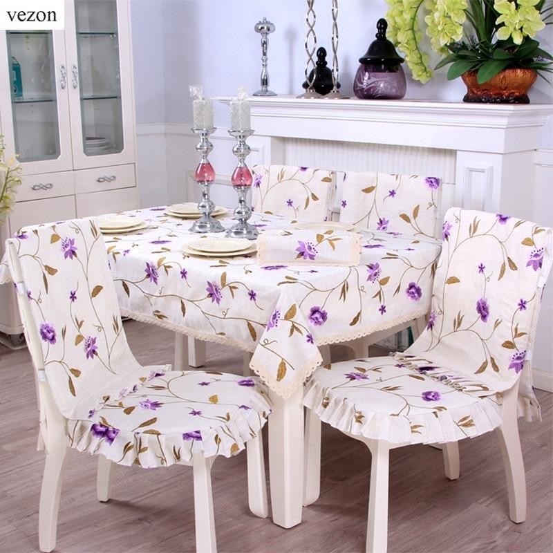 Vezon Europe Elegante Leinenstickerei Blumentischdecken Zarte - Haustextilien - Foto 2
