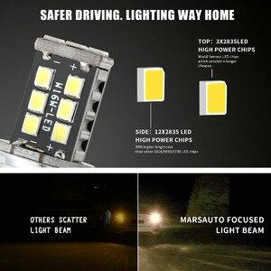Image 2 - 2 шт. светодиодный Автомобильные светодиодные лампы T20 W16W 15 SMD 4014, 6000 К