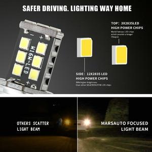 Image 2 - 2x T20 W16W 15 SMD 4014 sans erreur LED voiture rétro éclairage ampoules 6000K blanc lampes LED pour voitures LED clignotants lumière