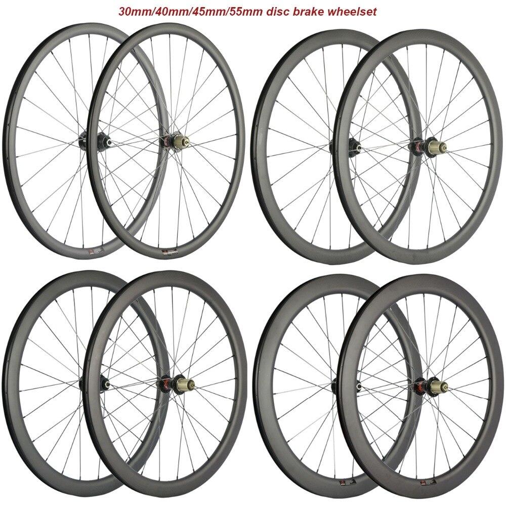 Дисковый тормоз 6 болт/Центральный замок концентратор 30 мм 40 мм 45 мм 55 мм бескамерная шина 25 мм ширина Велокросс Углеродные, для колес велоси