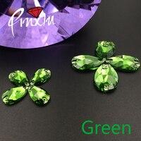 Vert couleur Waterdrop 7x12mm/11x18mm/13x22mm/16X25mm/17x28mm Strass Coudre sur pierre Cristal Flatback 2 trous DIY vêtement utilisation