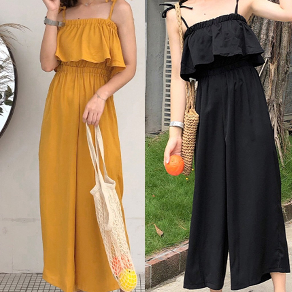 Hot Selling New 2019 Fashion Women   Jumpsuit   Camisole Sexy Sleeveless Pure Color Loose   Jumpsuits