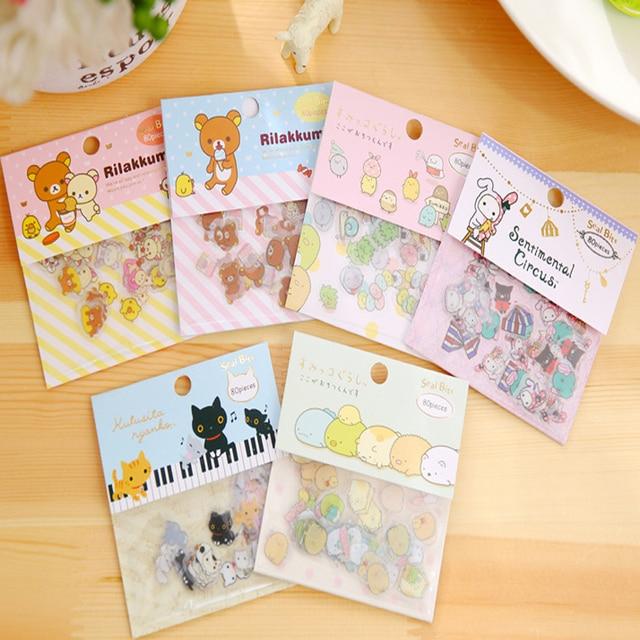 240 sztuk/partia Bio corner łatwo niedźwiedź łatwo niedźwiedź naklejki paczka naklejka dla dzieci zestaw papeterii DIY dekoracyjne naklejki notebook
