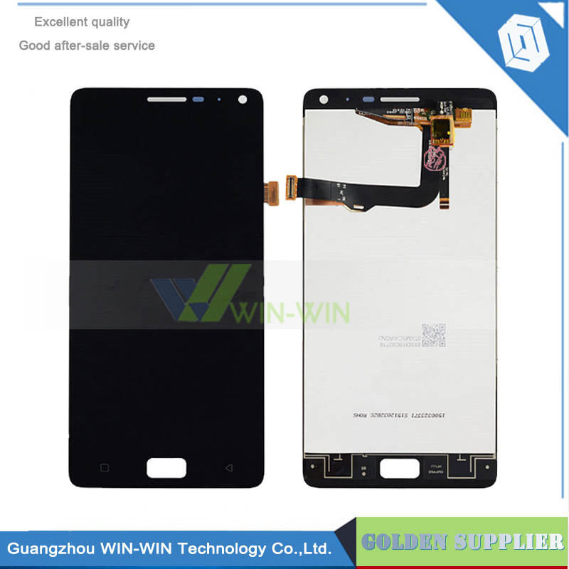 5pcs/lot For Lenovo Vibe P1 Full Lcd Display Touch Screen Digitizer Assembly Complete Sensor Black Gold+Tracking аксессуар чехол lenovo k10 vibe c2 k10a40 zibelino classico black zcl len k10a40 blk