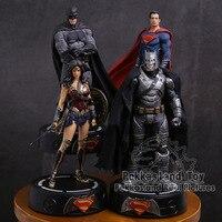 DC комикс супергерой Бэтмен/чудо-женщина», «Супермен», бронзовая статуя с светодиодный свет ПВХ фигурка Коллекционная модель игрушки