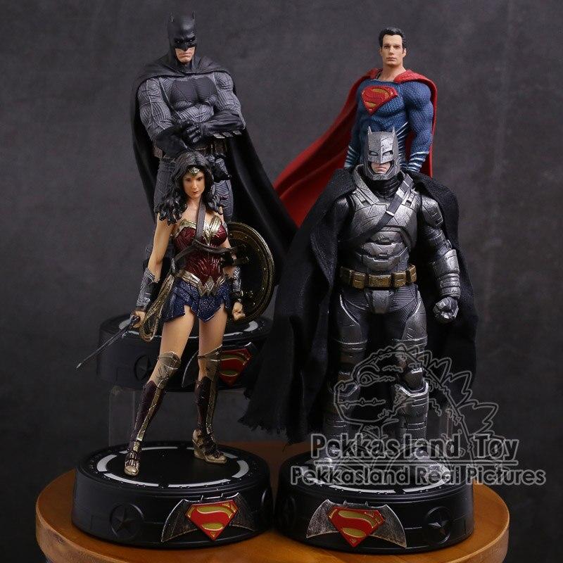 DC COMICS Супер герой Бэтмен/Чудо Женщина/Супермен статуя с светодиодный светильник ПВХ фигурка Коллекционная модель игрушки