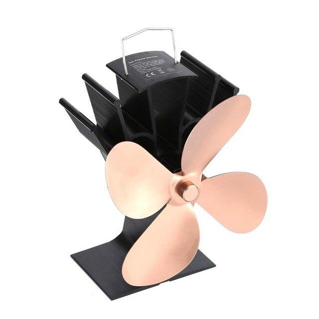 Appliances Thermal Power Fireplace Fan Heat Powered Wood Stove Fan for Wood/Log Burner /Fireplace Eco Friendly Four-leaf Fans Exhaust Fans