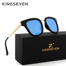 Kingseven 2017 Поляризованные Кошачий глаз Солнцезащитные очки для женщин Для женщин Овальный Очки ретро женский Защита от солнца Очки Роскошные модные женские туфли очки N7912