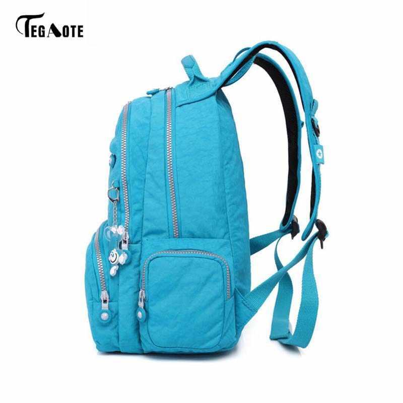 TEGAOTE Großhandel Preis Nylon Wasserdichte Rucksack Ultraleicht Reisetasche Männer Frauen Rucksack 15 Farben kinder Schule Rucksäcke