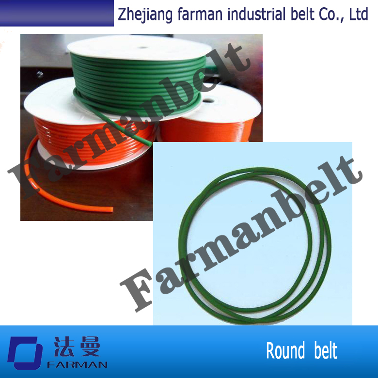 Transmission belt PU Round Belt Smooth Surface on sale green orange transparent pu round belt polyurethane drive belt smooth and rough surface for sale
