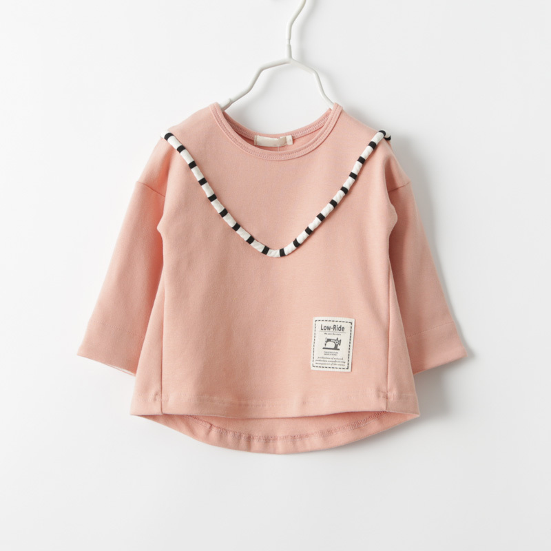 2019 primavera nuevas niñas casual rayas de manga larga Camiseta niños niñas primavera otoño algodón bottoming camisetas tops camisetas