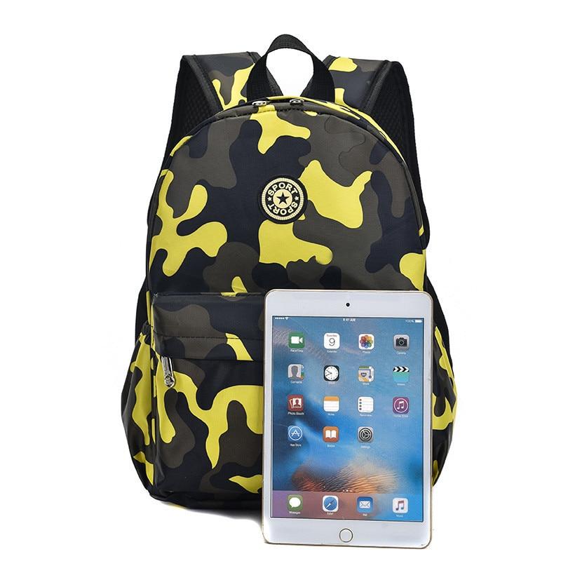 Hot Sale Camouflage Child Backpacks Kindergarten Bags School Students Cute Printing Oxford Rucksack Kids Bag School Bags 2 sizes