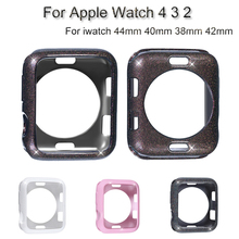 Glitter Watch Case For Apple Watch 4 3 2 TPU Soft Shell For iwatch 44mm 40mm 38mm 42mm Bumper Protective Cover Accessories цена и фото