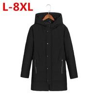 New Big Size 8xl 6xl 5xl 4xl Male Coat Hooded 2017 Men S Warm Korean Style