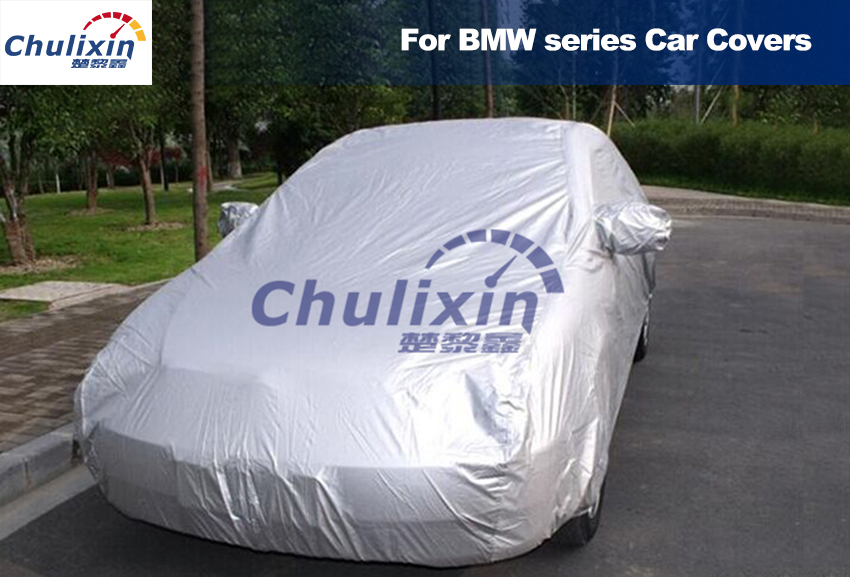 Car covers Waterproof Cover Sun UV Snow Dust Rain Resistant Protection Gray for BMW 1 3 5 7 X1 X3 E46 E90 E92 F30 320i 328i image
