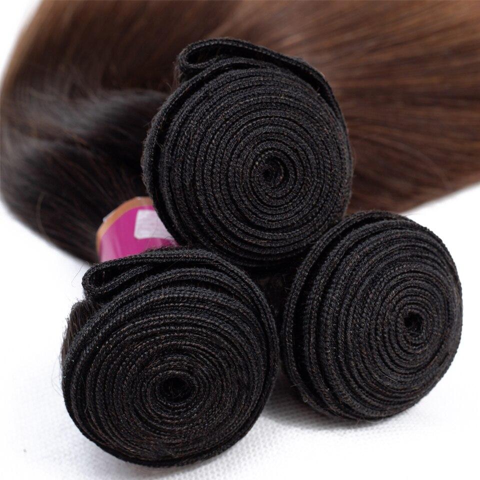 remy colorido feixes de cabelo humano com fechamento