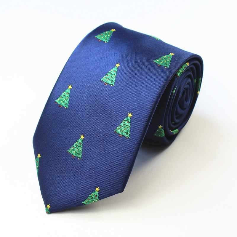 Fashion-High-Quality-Ties-for-Men-Christmas-Gifts-Snowman-Polka-Dots-Polyester-Necktie-Skinny-Gravata-for