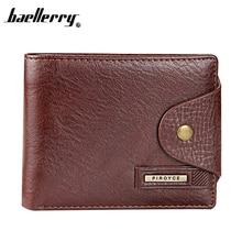 New 2017 Genuine Leather Brand Men Wallets Design Short Small Wallets Male Mens Purses Card Holder Carteras,Hot Sale