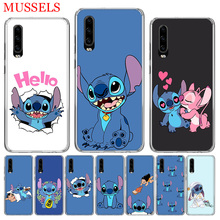 Stitchs Blue Fashion Phone Case for Huawei P30 P20 Mate 20 10 Pro P10 Lite P Smart + Plus 2019 Customized Cover Cases Capa Coque
