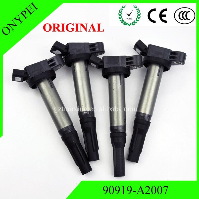 Original Part 4 PCS High Quality Ignition Coil 90919 A2007 For Toyota Lexus 3 5L 90919