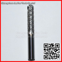 10*40*80L Two Ball Nose Corn Teeth End Mill,Carbide PCB Drill Bit, Printed Circuit Board Cutter On HDF,Fiber Glass
