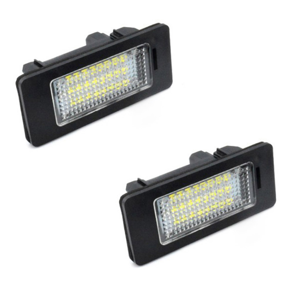 2 Pcs LED Car Lights For BMW e60 Number Plate License Light Lamp for BMW E39 M5 <font><b>E5</b></font> E90 E90 E92 E93 E70 E71 X5 X6 M3 image