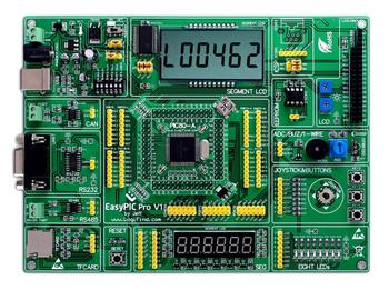 EasyPIC Pro learning evaluation development board dsPIC PIC32 PIC24 belt DSPIC30F6014A