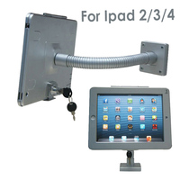 Tablet wall display mount stand desktop security protection kit lock holder metal case anti theft for retail iPad2/3/4/air