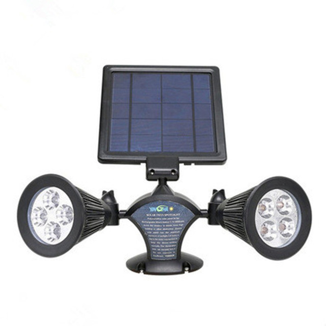 8LED Double Wall Solar Lamp 150LM Outdoor Garden Lights Spotlights ...