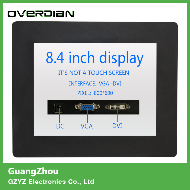 8.4/8 VGA/DVI interface Industrial Control Monitoring Machines Metal Shell Embedded Lcd Monitor800*600 Non-touch Screen 8 8 4 inch vga dvi interface non touch industrial control lcd monitor display metal shell buckle card installation 4 3