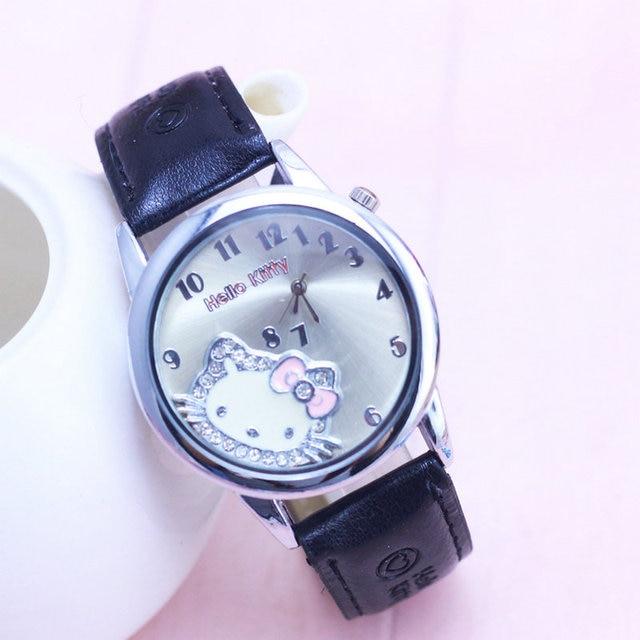 Hello Kitty Watch Cartoon Clock Girl Children Lovely Wrist Watches Kids Cute Child Brand Casual Hodinky Ceasuri Criancas