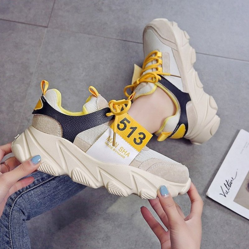 2019 Spring Autumn Fashion Women Casual Shoes Breathable Platform Wedges Women Sneakers Chunky Height Increasing Female Shoes