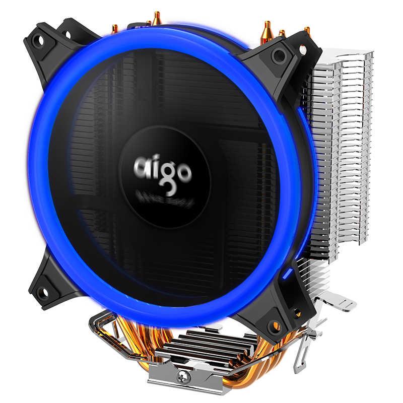 愛国者 E3 120 ミリメートル LED CPU クーラー 4 チューブ 4 ピン静か PWM 温度制御サポート AMD とインテルゲーム冷却リング