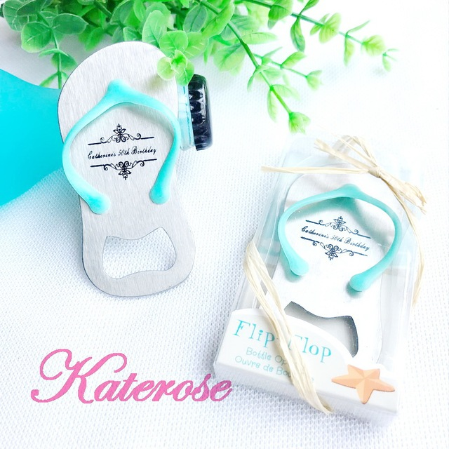 56050f6a3956b FREE SHIPPING(100pcs Lot)+Customized Flip-flop Wine Bottle Opener Beach