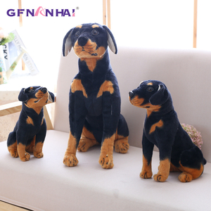 Image 1 - 1pc 30/40cm Simulation Dog Plush toy Creative Realistic Animal Sitting Dog Dolls Stuffed Soft Toys for Children Birthday Gift