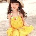 Newest Summer Vest Dress Cute Beach Dress kids Sleeveless Princess dress Baby Girl Dresses