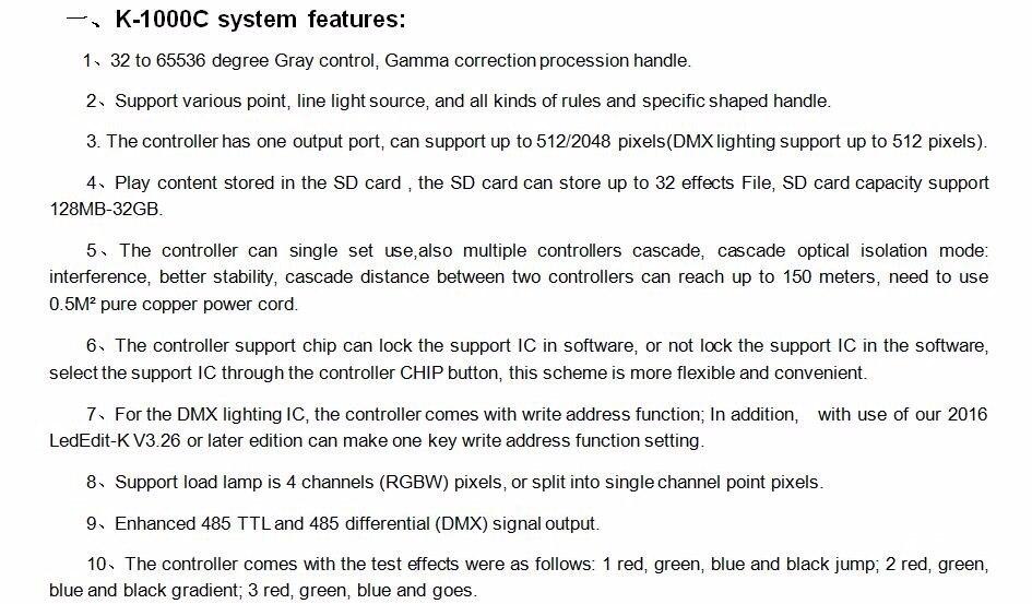 ộ_ộ ༽DC5V-24V K-1000C controller (T-1000S Updated)WS2812B