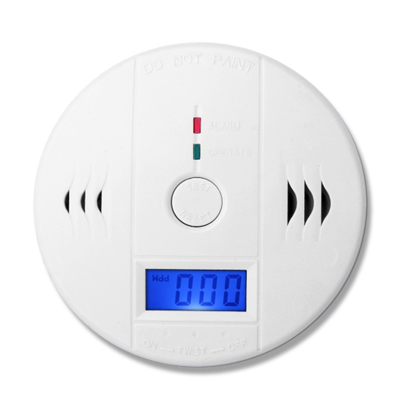 Portable CO Carbon Monoxide Poisoning Gas Sensor with LCD Display & Compact Alarm Detector for Home Security Free Shipping