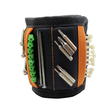 Geoeon Multi-function Magnetic Wristband Portable Tool Bag Electrician Wrist Tool for Holding Screws, Nails, Drill Bits A35 strong magnetic wristband bracelet portable tool bag for holding screws nails drill bits tool wrist belt magnetic wristband