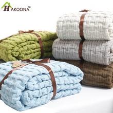HAKOONA Solide Knit Fiber Decke Sommer Kühler Dünne Bettdecke Büro Nickerchen Einzel Decke Bettwäsche königin 180*120 cm