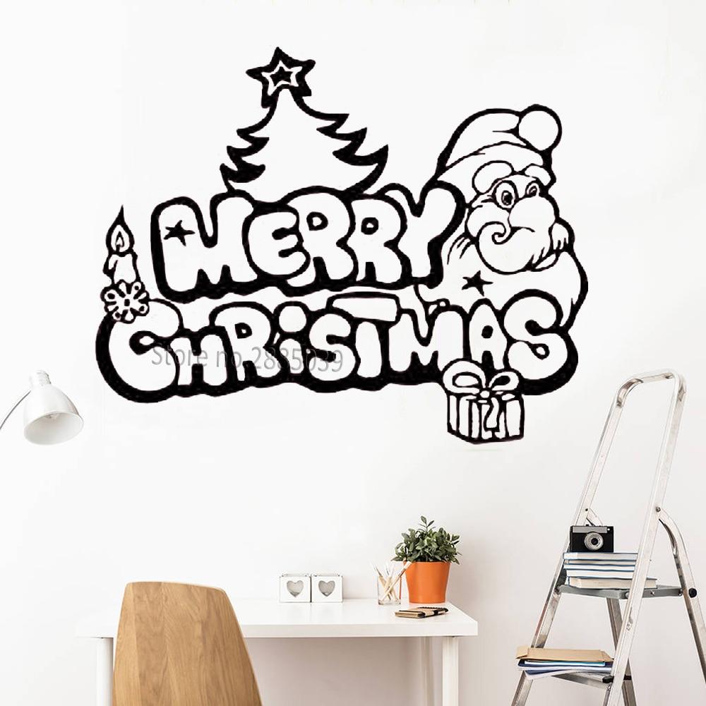 Aliexpress.com : Buy Merry Christmas Decals Funny Santa ...