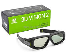 free shipping original Second generation wireless 3d Stereo vision glasses 3d vision 2(China)