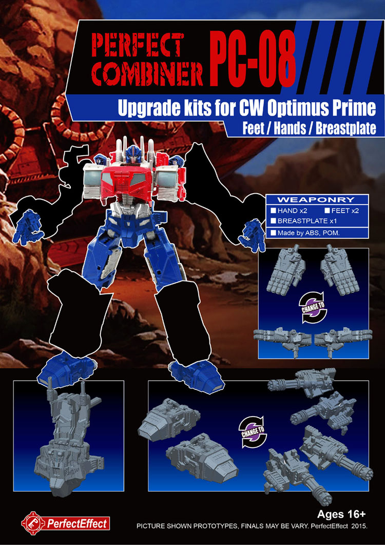 TF PC-08 PERFECT COMBINER UPGRADE KIT FOR CW OPTIMUS,In stock! new in stock ve j61 cw